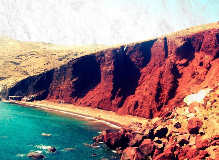 Красные пляжи