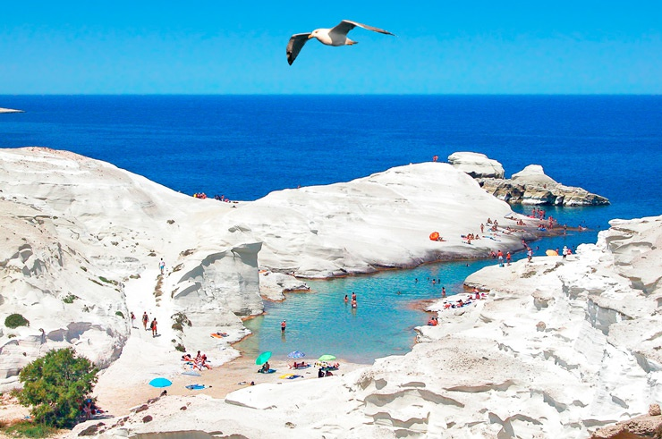 Белые пляжи